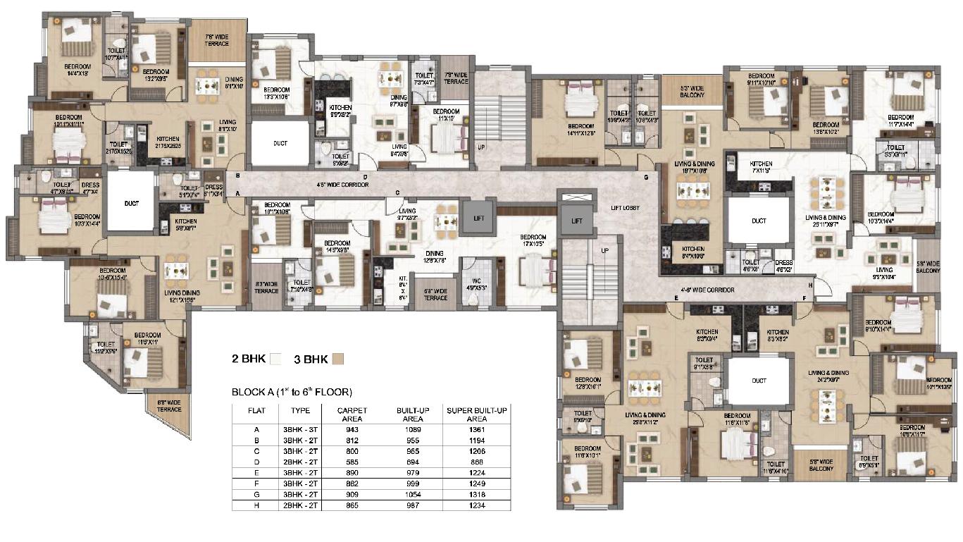 Surya Valley Floor plan - A