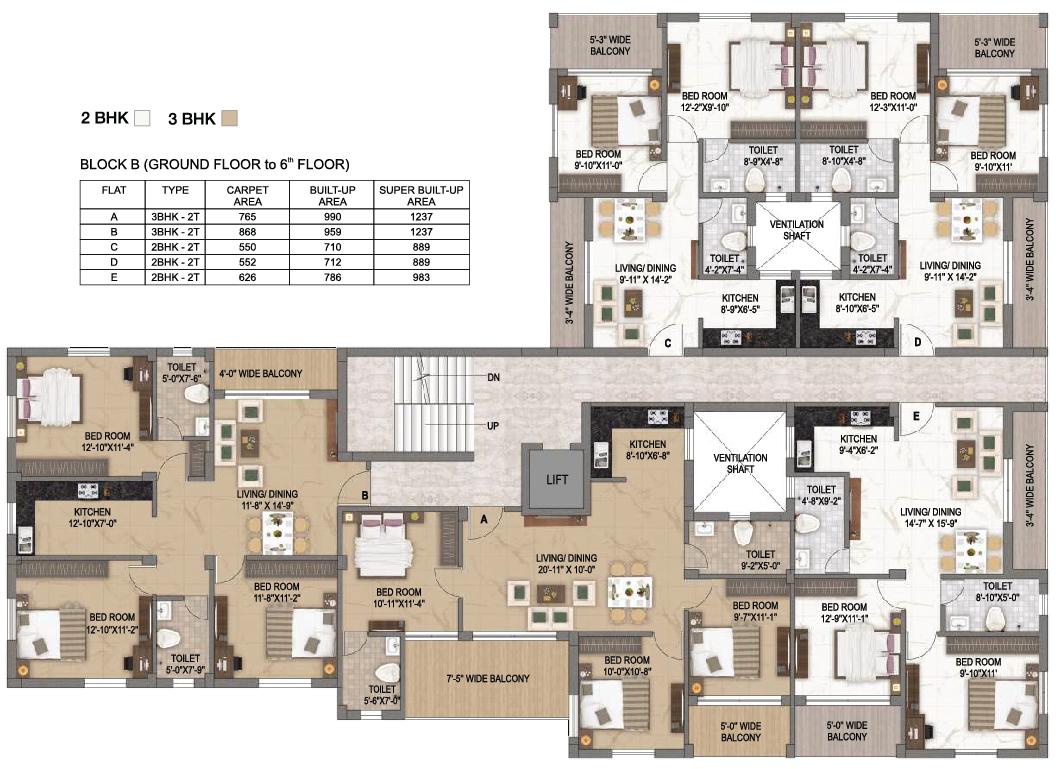 Surya Valley Floor plan - B